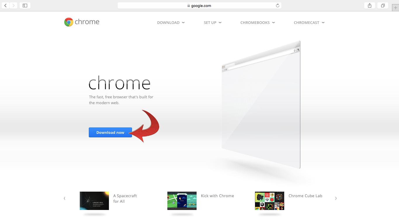 Installing Chrome on a MAC using Safari